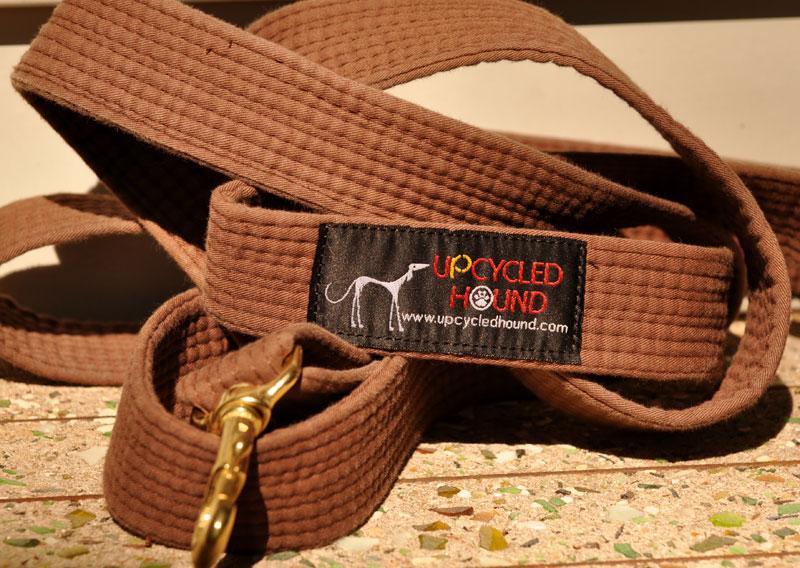 karate belt leash brown go travel